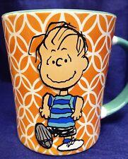 Peanuts Linus Coffee Mug Tea Cup Orange 15 Ounce Gibson Funky Dancing Happy New