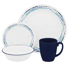 16 Piece Dinnerware Set 16-Piece Dinnerware Set Plates Bowls Mugs Set By Corelle
