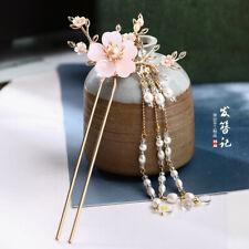 Chinese Hanfu Cheongsam Tassel Hairpin Kanzashi Handmade Hair Accessories Xiao8