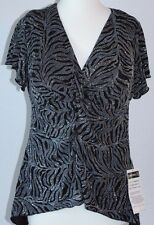 Studio 1940 Fashion Bug Bling Black Blouse New with Tags Size 14/16W Plus