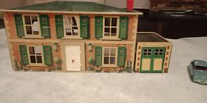 Vintage Mettoy Tin Plate Lithographed 1950s  Dolls House
