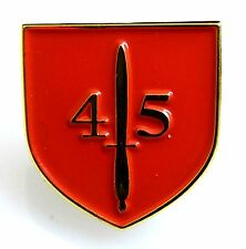 45 COMMANDO ROYAL MARINES CLASSIC HAND MADE PLATED LAPEL PIN BADGE