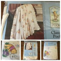 "Disney Classic Winnie The Pooh Receiving Blanket 100% Cotton Satin Trim 30""x40"""