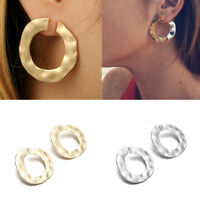 Women Luxury Statement Gold Silver Hoop Stud Earrings Female Fashion Jewelry