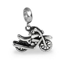 Stainless Steel Motorcycle European Bead Charm for European Charm Bracelets