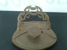 Antique brass ink well with paper holders