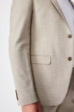 Cotton On Mens Slim Stretch Suit Jacket Jackets  In  Beige