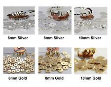 50 Flat Disc Metal Spacer Beads Ur PICK