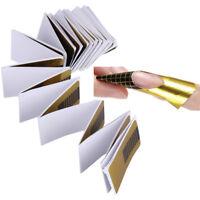 100pcs Modellierschablonen Nagel Schablonen UV-Gel Acryl Verlängerung Nagel