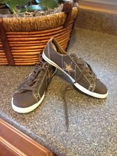CONVERSE Classic Hash All Star Low Top Brown Leather Sneaker Youth Size 3    *S2