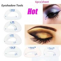New Eyeshadow Guide Card Eye shadow Stencil Template Quick Eye Makeup Tool 6Pcs
