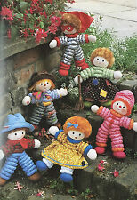SEWING PATTERN Jean Greenhowe 6 Stretchy Dolls Toy Scarecrow RARE PATTERN
