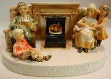 Vintage Sebastian Miniatures America Remembers Family Reads Aloud Excellent