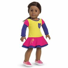 💕American Girl Playful Colour Block Dress Set NIP Pink Sparkle Plimsoles Shoes