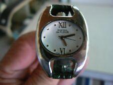 Montres de Fleur Watch With Brown Leather Band NWOT New Battery Quartz