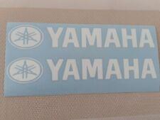 Hochwertige Premium Yamaha- Motorrad Aufkleber-Sticker in Hochglanz Weiß glanz.