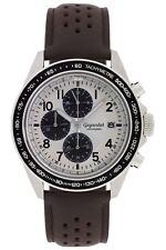 Uhr Armbanduhr Herrenuhr Chronograph Gigandet G24-007 Schwarz Braun Lederband