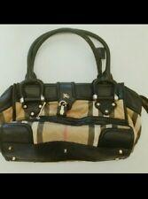 Burberry Manor House Nova Check Large Classic Bag AUTHENTIC