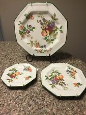 Johnson Brothers 1990 FRESH FRUIT Set of 3 Plates England with Wall Hangers