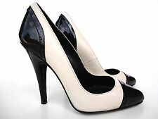 ERNEST STILETTO HIGH HEELS PUMPS SCHUHE DECOLTE LEATHER NUDE BEIGE BLACK NERO 43