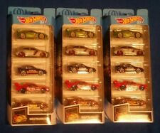 HOT WHEELS  50TH ANNIVERSARY LOT (3)  NIGHTBURNERZ  5 pack Mitsubishi Honda JDM