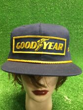 Nwot Goodyear Hat Cap Snapback Blue Race Gold Albertsons Banquets Racing NASCAR