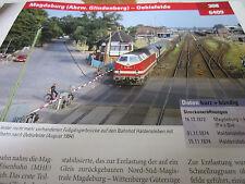 Archiv  Eisenbahnstrecken 308 Magdeburg Abweig Glindenberg Oebisfelde