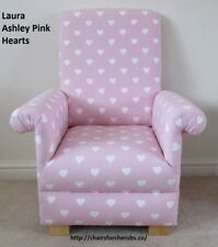 Laura Ashley Pink Chair Kids Childs Hearts Fabric Girls Armchair Nursery Bedroom