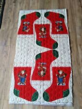 Christmas Stockings Pre-Quilted Fabric Panel