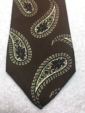 ROBERT TALBOTT MENS TIE BROWN WITH LARGE PAISLEY PATTERN 4 X 60