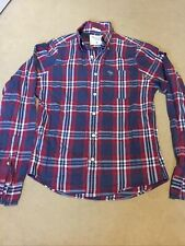 Abercrombie And Fitch Muscle Size Medium Checked Red And Blue Shirt Used