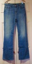 Cotton High Waist Regular Size Flare Jeans for Women