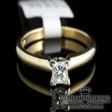 0.20 Ct Princess cut Square Real Genuine Diamonds Solitaire Ring 14K Gold Ladies