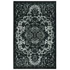 Mohawk Home Area Rug 3 ft x 5 ft Ornamental Rectangle Black Indoor Synthetic
