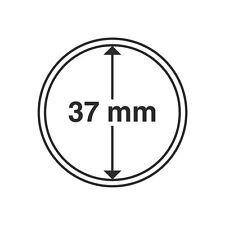 Capsules rondes 37mm, pour pièces de monnaie. Paquet de 10.