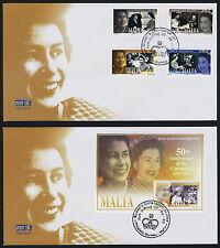 Malta 1129-33 on FDC's Queen Elizabeth 50th Anniv of Coronation