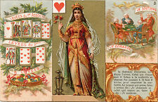 ORIGINAL ANTIQUE FRENCH PLAYING CARD & ADVERTISING CARD