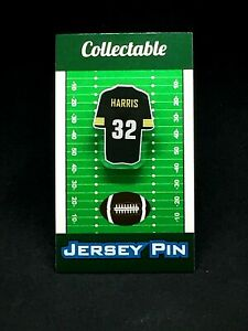 Pittsburgh Steelers Franco Harris jersey lapel pin-Classic vintage Collectable