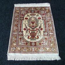 Seidenteppich Hereke 58 x 45 cm Orient Teppich Seide Vase Silk Carpet Rug Tapijt