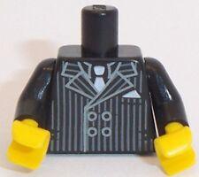 Lego Black Torso x 1 Pin Striped Suit Pattern for Minifigure