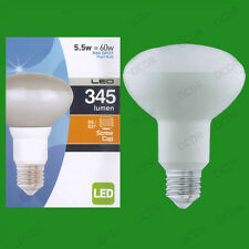 2x 5.5W (=60W) R80 LED Energy Saving Reflector Spotlight Bulb ES E27 Light Lamp