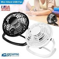 USB Powered Small Desk Fan Quiet Mini Table Fan Silent Portable Personal