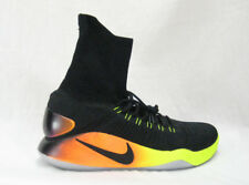 Nike Hyperdunk 2016 FK FLYKNIT BASKETBALL 843390-017 Black Orange Flyknit SZ 16