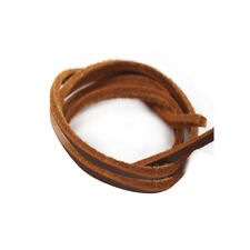 1 Pair Rawhide Leather Shoelaces Shoestrings For Boot Shoes Laces Brown 110cm