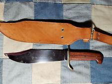 New listing 1966-68 Western Bowie Usa W49 Fixed Blade Sheath Knife W/Sheath Vietnam War Era
