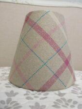 Handmade Candle Clip Lampshade Laura Ashley Keynes Tartan Check Berry Fabric