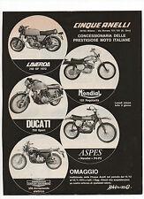 Pubblicità 1972 MOTO MOTOR ASPES DUCATI LAVERDA HARLEY advert publicitè werbung