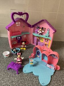 Disney Minnie Mickey Mouse Bowtique House Toy Playset With Figures Figaro Cat
