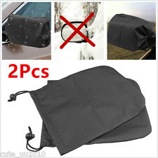 Universal 2Pcs Car Side Rear View Mirrors Snow Ice Covers Water Shield Protector