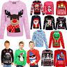 Kids New Xmas Jumpers Boys Girls Christmas Retro Sweater Unisex Novelty Jumpers